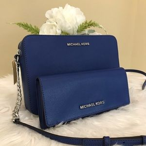 Michael Kors jet set large crossbody bag & wallet
